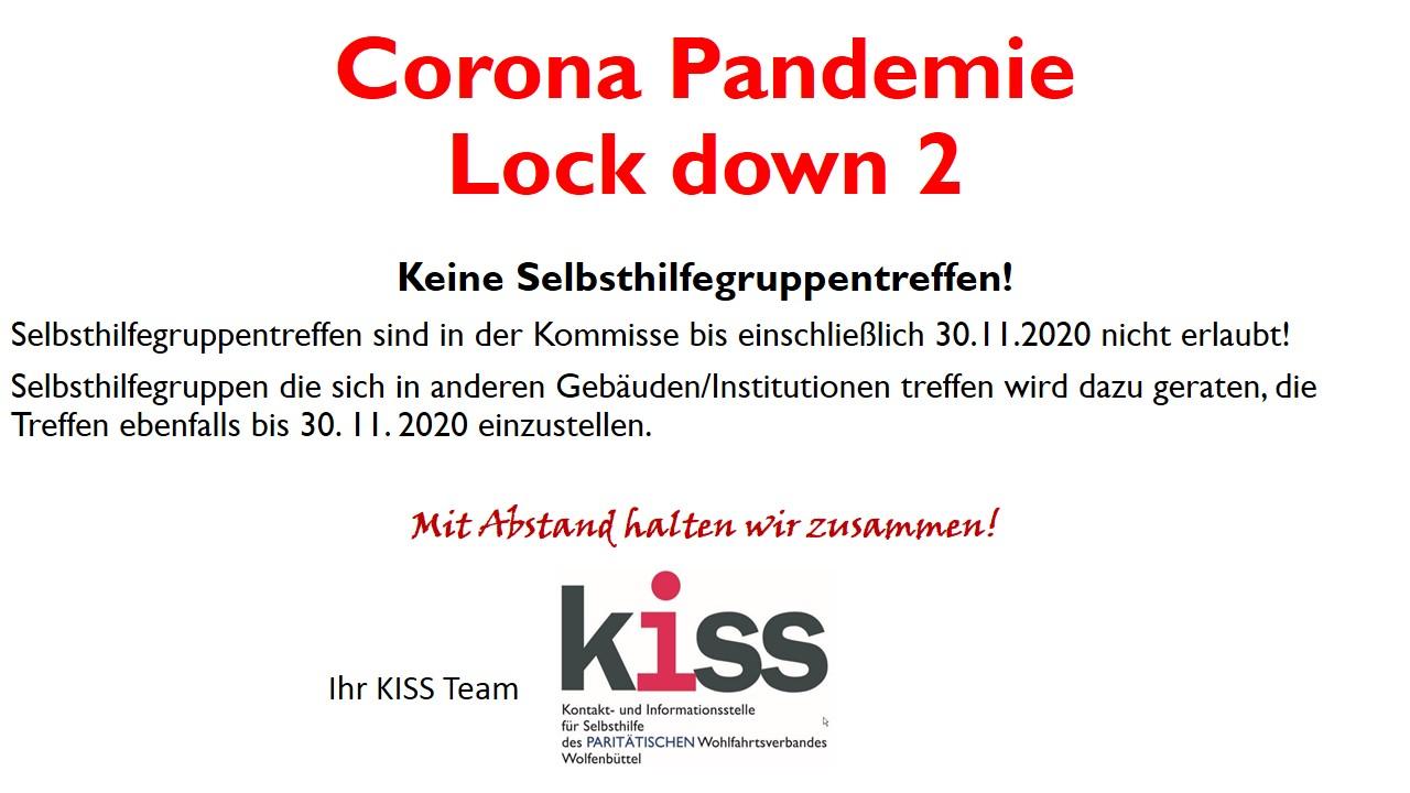 Homepage Lock down 2 Corona Pandemie