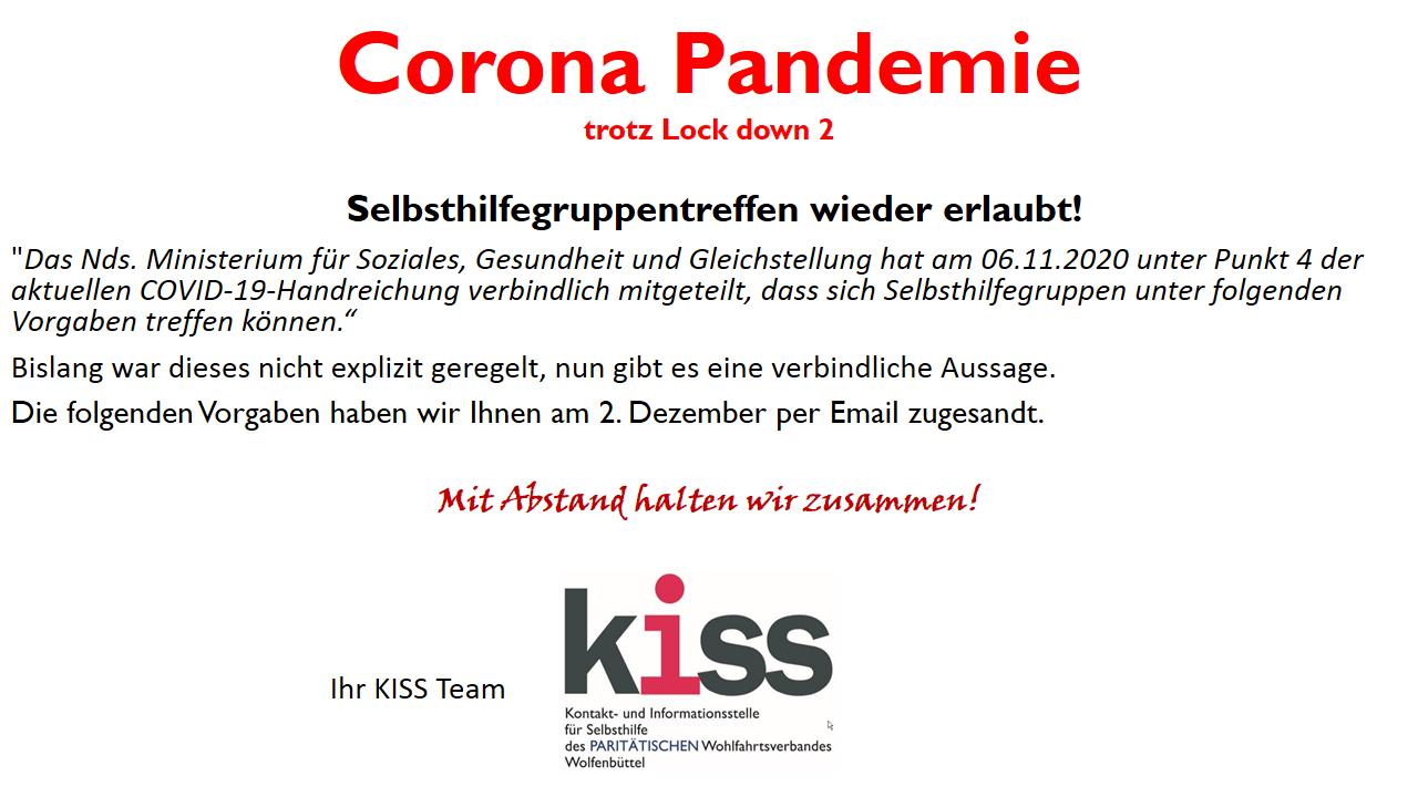 Homepage Lock down 2.1 Corona Pandemie