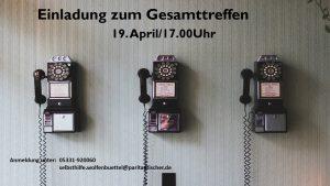 virtuelles Gesamttreffen 19.April